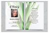 White tulip Funeral Prayer Card Template example image 2