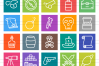 50 Pirate Line Multicolor B/G Icons example image 2
