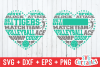 Volleyball svg, Volleyball Heart Subway Art svg cut file example image 1