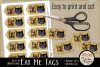 Alice in Wonderland Cheshire Cat Eat Me Printable Tags example image 2