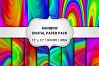 Rainbow Digital Paper Pack / Abstract Background / Scrapbooking / Card Making / Patterns / Printables / Rainbow example image 1