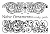 Naive Ornaments Family Pack (seven fonts) example image 3