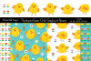 Thumbprint Easter Chick Graphics & Patterns example image 1
