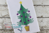 Vintage Christmas Tree Sketch Christmas Embroidery Design example image 1