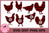 Chicken SVG, Buffalo Plaid Svg, Chicken Monogram Svg example image 1