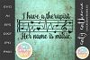 I Have A Therapist Her Name Is Music SVG Cut File // Quotes example image 1