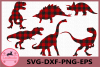Dinosaurs SVG, Dinosaurs Buffalo Plaid Svg, Vector Files example image 1