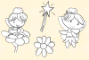 Cute Fairies Digital Stamps example image 4