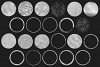 Silver Circles Clip Art example image 3