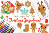 Christmas Gingerbread Clipart, Instant Download Vector Art example image 1