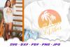 Summer Vibes Beach Sun Palms SVG DXF Cut Files example image 3