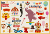 80 Magical Carnival Vector Clipart & Seamless Patterns example image 2