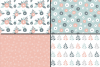 Pastel flowers seamless pattern / Peach blue green floral digital paper / Floral scrapbook papers example image 3