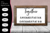Beautiful 'Together' Quote example image 1