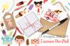 Icecream Van Pink Clipart, Instant Download Vector Art example image 4