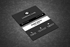 Black & White Business Card example image 4