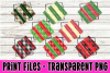 8 PNG Christmas Paint Strokes Stripes - Print File example image 1