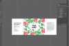 Soap label editable layer template PSD example image 5