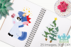 Christmas Unicorns 1 Clipart, Instant Download Vector Art example image 3