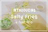 Salty Fries Font Trio example image 1