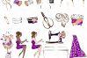 Fashion Designer Sewing Gold Glitter Clip Art example image 9