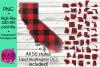50 States Bundle - Buffalo Plaid - PNG Files example image 1