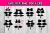 Hair bow template bundle #2 - hairbow svg files - diy bows example image 2