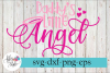 Daddy's Little Angel Baby SVG Cutting Files example image 1