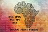 Africa SVG, Zentangle SVG, Travel svg, Mandala svg example image 1