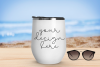 White Tumbler Mock Up With Beach Background - 1080x720px example image 1
