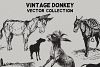 Vintage Donkeys Vector Collection example image 3