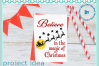 Believe in the magic of Christmas Santa and reindeer quote example image 5