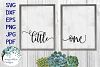 Little One | Baby Nursery Sign SVG Cut File example image 1