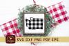 Washington Buffalo Plaid State SVG DXF Cut File example image 1