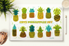 Cute Hand Drawn Pineapples Set example image 2