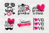 Valentine's Bundle SVG   Cut Files for Crafters   Kids SVG example image 2