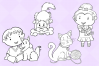 Kids With Pets Digital Stamps example image 3