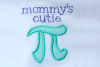 Mommy's Cutie Pi Symbol Applique Embroidery Design example image 2