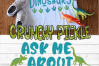 Ask Me About Dinosaurs SVG example image 3