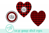Buffalo Plaid Monogram svg, Holiday cut file bundle example image 1