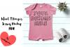 Infant T Romper Jersey Mockup - PINK example image 1