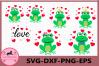 Frog Love SVG, Frog Prince svg, Valentines Day Svg, Love svg example image 1