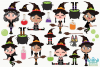 Wicked Witches 2 Clipart, Instant Download Vector Art example image 2