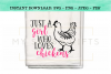 Just A Girl Who Loves Chickens SVG Design example image 1