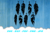 Feather Earring Template SVG DXF Cut Files example image 2