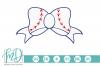 Baseball Bow SVG, DXF, AI, EPS, PNG, JPEG example image 1