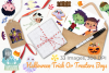Halloween Trick Or Treaters Boys Watercolor Clipart example image 4