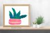 17 Digital Stamps Potted Cactus Succulents Clipart Bundle example image 3