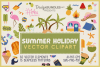 Summer Holiday Vector Clipart & Seamless Patterns example image 1