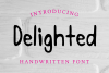 Delighted Hand Written Sans Serif Font example image 1